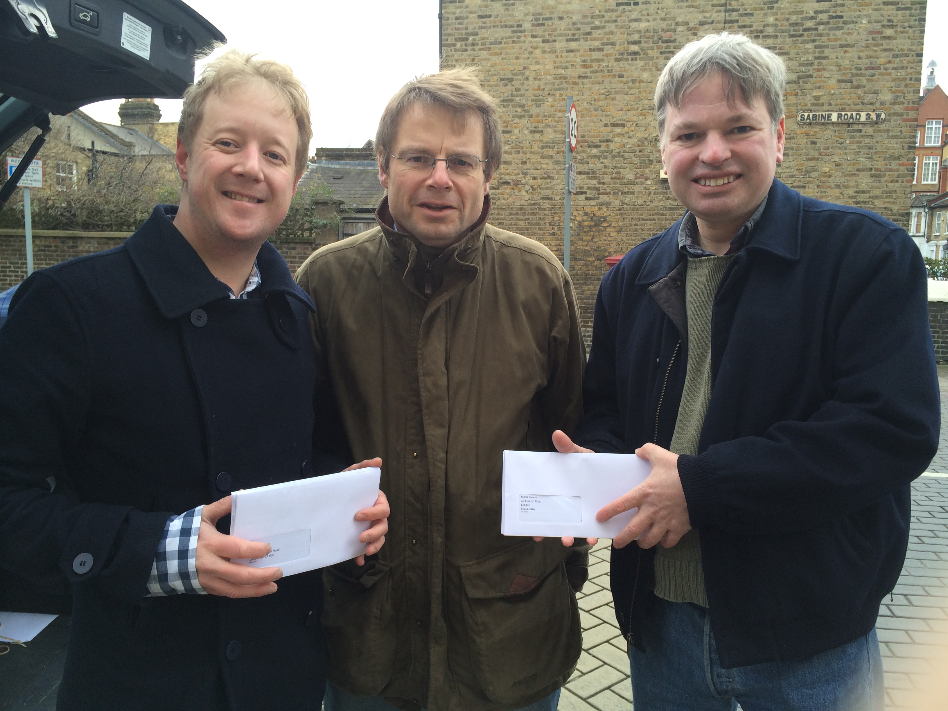 Campaigning for Jane Ellison MP - Battersea - 1st February 2015