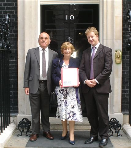 Delivering a petition on Longridge Woods, Middlesbrough with Cllr Chris and John Hobson - 2010