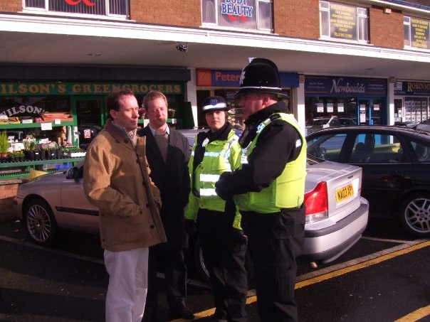 With Martin Callanan MEP and local police in Marton - 2009