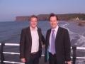 With Martin Callanan at Saltburn pier (web)