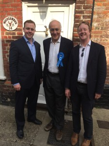Campaigning in Sandwich with Michael Howard