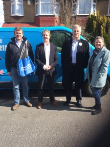 Campaigning in Watford