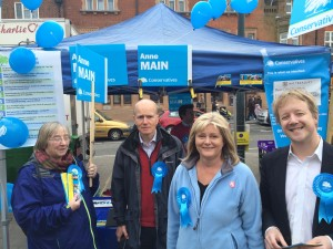 Campaigning with Anne Main in St Albans